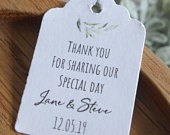 Olive Branch Wedding Favour Tags Favor Tags Summer Wedding Stationery Simple Favor Tags