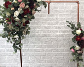 Eucalyptus garland, Arch flowers, Wedding arch, Wedding flowers, Chuppah flowers, Arch swag, Flower swag, Floral swag, Artificial flowers