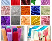 Ice Silk Fabric Backdrop Swag Curtains for Home Window Wedding Reception Party Photo Studio Background Decoration 1.5m x 10m