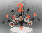 Tigger Stars on Wires Cake Topper Spray Cake Decoration Birthday 3rd 4th 5th 6th 7th 8th 9th 10th 11th 12th any age any colour any theme 002