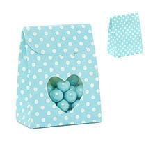 Blue Heart Tab Top Favor Box Colored - 2-3/8 X 1-3/8 X 3-1/8 - Cardboard - Quantity: 200 - Favor Boxes by Paper Mart