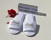 Bride slippers, Bridesmaid slippers, Will you be my bridesmaid, Personalised slippers, bridesmaid gift, bride gift, slippers