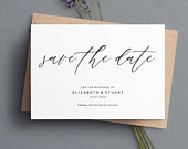 Save the Date, Simple Save The Date, Personalised Save The Date, Save The Date Cards, Calligraphy Save The Dates, Rustic Save The Date 081