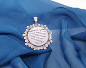 Wedding bouquet charm for Mother of the Groom. Perfect pendant, wedding favour or keepsake for your Mother in Law. Bride, Groom, Family