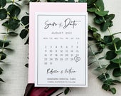 Save the Dates Calendar Cards, Save the Date Postcards, Modern Wedding Invites, Matching Invitation Suite, Unique Save our Date Idea