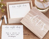 Wooden Date Night Ideas Suggestion Box Wedding Guest Book Alternative Advice Cards for Bride Groom Wedding Gift Keepsake Box