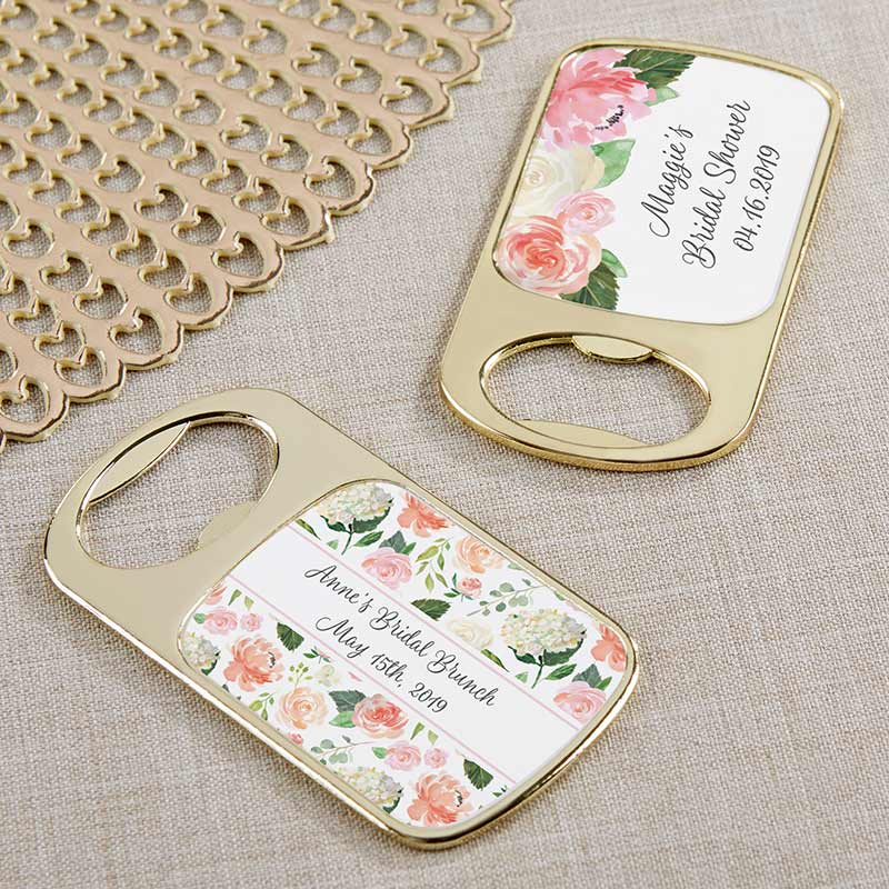 Personalized Bridal Brunch Gold Bottle Opener