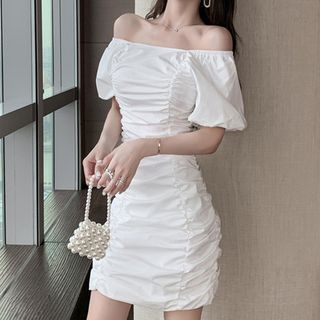 Cold Shoulder Short-Sleeve Sheath Party Dress