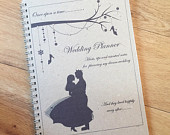 A5 Wedding Planner, Bride to be Wedding Notebook, Journal CINDERELLA Prince Charming Inspired