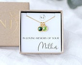 Loss of Mother Gift, Sympathy Gift For Loss Of Mum, Mum Memorial, Grief Gift,Bereavement Gift, Mother Remembrance Necklace, Mom Loss Gift