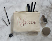 Personalised name makeup bag, make up for her toiletries case any name custom cosmetics unique wedding gifts personalized gifts for women