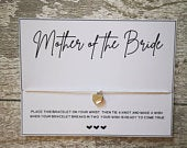 Mother of the Bride Wish Bracelet Wedding Thank you Gift Mother of the Bride Bridal Party Hen Party Hen Do Bride Tribe MOB