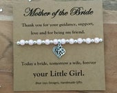 Mother of the Bride Gift, Brides Mother Gift, Wedding Party Gifts, Jewellery, Bracelet, Gift Under 20, Today A Bride, Tomorrow A Wife
