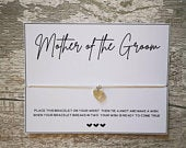 Mother of the Groom Wish Bracelet Wedding Thank you Gift Mother of the Groom Bridal Party Hen Party Hen Do Bride Tribe MoG