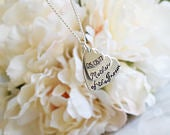 Mother of the Groom personalised stacked hearts necklace customised gift wedding party bridal party present Mother in law mum new mum family