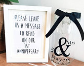 Personalised guest book // wedding guest book // alternative guest book // alternative wedding guest book / message in a bottle/ message jar