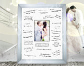 Wedding Guest Signature Signing Frame Silver, Gold, Black, White or Oak 40x50cm / 16x20 or 30x40cm / 12x16 Wedding Guest Book Alternative