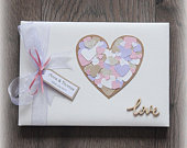 Wedding GUEST BOOK, Luxury Personalised Wedding/ Anniversary Guest Book/ Handmade Box