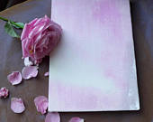 Blush pale pink velvet guest book hand painted A4 guestbook, MADE TO ORDER, Uk