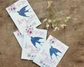 Customised Wedding Seed Packet Favours, Wildflower Wedding Favors For the Love Birds Set of 10 With Seeds