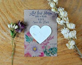 10 Personalised save the dates, wildflowers, seed packets, custom save the dates, seeds, wedding, save the date, rustic wedding, eco wedding