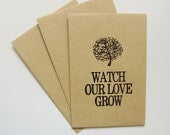Wedding Seed Packets, diy Eco Friendly Favors, Watch Our Love Grow