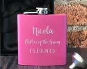 Personalised Engraved 6oz Mother of the Groom Hip Flasks Gifts Ideas For Wedding Favours Thank You Presents Tokens Personalized Ideal