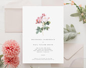 Floral Wedding Save the Date, Vintage Save the Date, Botanical Save the Date, Rose Save the Date, Italian Wedding
