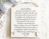 Parents of The Bride Gift from Groom, Personalised Thank you Wall Plaque for Mother and Father of The Bride, Wedding Favour Custom W271
