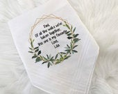 Wedding handkerchief, mother of bride hanky, personalised tissue, for your happy tears, father of bride handkerchief, wedding tissue,