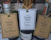 Personalised Bottle Tags Thank You Bottle Tags Best Man Thank You Usher Groomsman Father of the Bride of the Groom Wedding Tags
