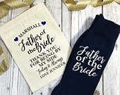 Personalised Father of the Bride Wedding Morning Socks Choice of Colours with Gift bag Thank You For Being By My Side