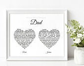 Printable Father of the Bride gift, EMAILED Personalised Wedding gift from Bride Groom, DIGITAL Wedding Thank You Gift, Parents thank you