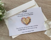 Father of bride gift, father of the bride card, thank you dad gift, wedding day favour dad, gift for dad wedding day