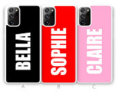 Personalised Note 20 Case Samsung Galaxy Note 20 Ultra Case Samsung Note 20 Case Vertical Custom Name Phone Case Black Rubber Pink White red