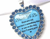 Bride to Be Something Blue Gift For Bride From Groom Bouquet Charm Wedding Love Poem Quote Gift