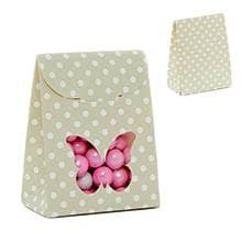 Sage Butterfly Tab Top Fvr Box-Pk Colored - 2-3/8 X 1-3/8 X 3-1/8 - Cardboard - Quantity: 25 - Favor Boxes by Paper Mart