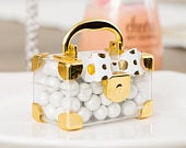 Mini Valigetta porta confetti ORO Mini Travel Suitcase Favor Box Gold (2)