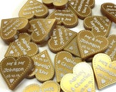 50th Anniversary Decorations Golden Wedding Gift Parents Grandparents Party Venue Decor Table Confetti Gold Favours Mini Love Hearts Gifts