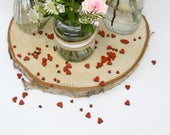 Assorted Red Wooden Hearts Table Confetti Crafting Wedding