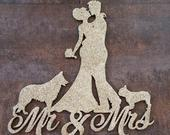 Wedding Cake Topper, Mr Mrs Cake Topper, Custom Cake Topper, Bride and Groom Silhouette, Personalised Cake Topper, Custom Topper,
