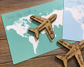 Save the Date Magnet Save The Date Magnet with Cards Personalised Save the Date Wooden Save The Dates Plane Save The Date
