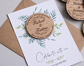 Wooden Save The Date Magnet, Save The Date Wood, Save The Date Wedding Magnet, Rustic Wedding Invitation, Personalized Wooden Wedding Magnet
