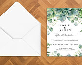 Tropical Garden card wedding invites (individual cards 300gsm) Main Invite/ RSVP Menu/ Travel and Accommodation/ Wedding Gift