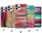 Vintage Wooden Phone Case Colourful Vintage Wooden Fence Cover for iPhone 7, 8, XS, XR, 11PRO max Samsung S10, S20, A6, HUAWEI P20 P30, a9