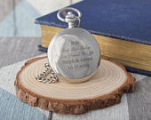 Laser Engraved/Personalised BEST MAN TODAY Design Wedding Silver Pocket Watch