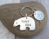 Daddy Bear Keyring, Papa Bear Keychain, Bear Cub Keyring, Poppa Bear, Dad Keyring, Childrens Name, Gift For Dad, Mens Present, Gift For Him