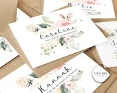 Will you be my bridesmaid card, bridesmaid proposal card, Kraft card, custom name bridesmaid card, wedding card, maid of honour, flower girl