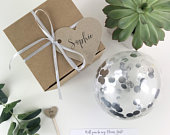 Personalised Metallic Silver Balloon Proposal Box, Balloon Proposal, Wedding Proposal, Will You Be My Bridesmaid, Bridesmaid Pop Balloon Pop