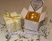 Personalised balloon proposal box Will you be my Bridesmaid godmother hen flower pop me ballon